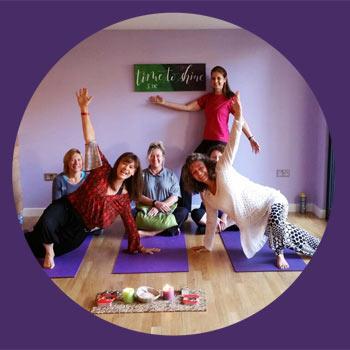 yoga class in progress